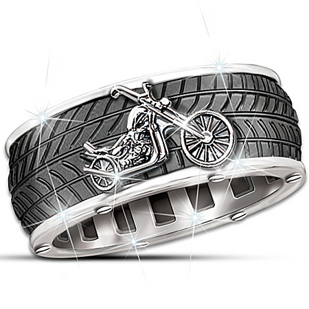 Photo of Motorcycle Men's Ring: Ride Forever by The Bradford Exchange Online