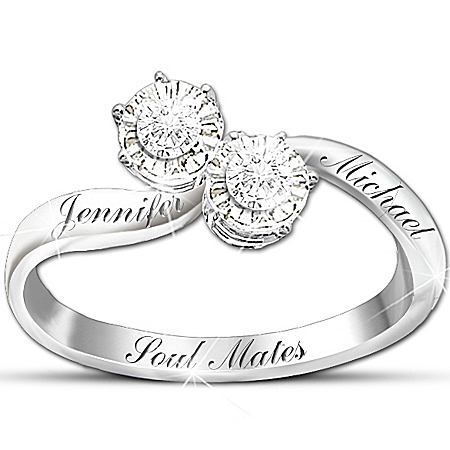 Photo of Personalized Diamond Ring: Soul Mates by The Bradford Exchange Online