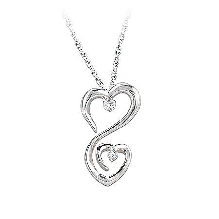 Photo of Women's Necklace: Always My Daughter Diamond Pendant Necklace by The Bradford Exchange Online