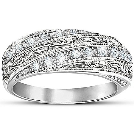 Photo of Women's Ring: Diamond Elegance by The Bradford Exchange Online