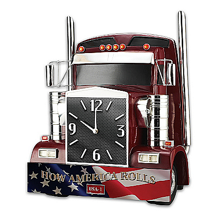 Photo of Wall Clock: How America Rolls Wall Clock by The Bradford Exchange Online