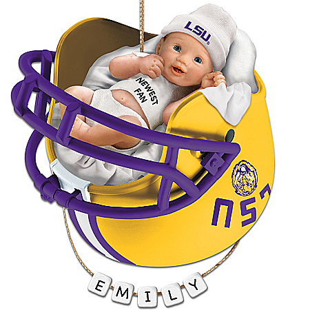 Photo of LSU Tigers Personalized Baby's First Ornament by The Bradford Exchange Online