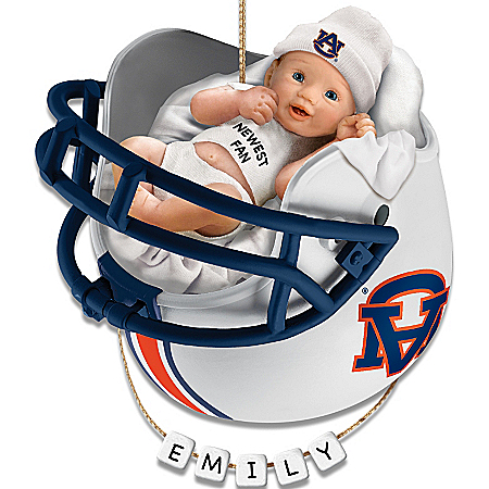 Photo of NCAA Auburn Tigers Baby's First Christmas Ornament by The Bradford Exchange Online