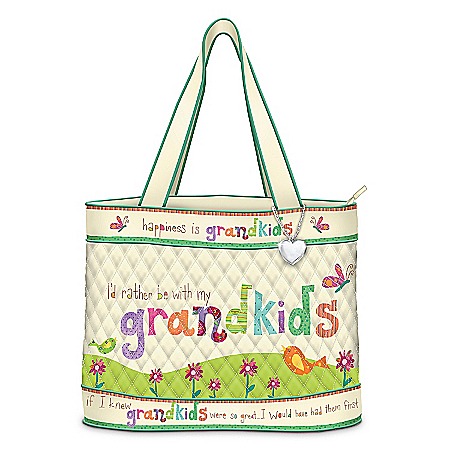 Photo of Grandmother Tote Bag: Grandkids Rule! by The Bradford Exchange Online