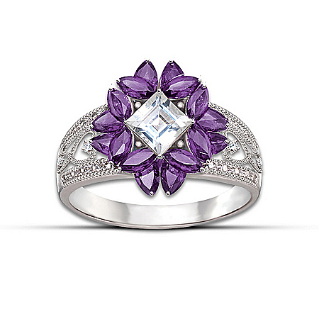 Photo of Women's Ring: Twilight Lavender Ring by The Bradford Exchange Online