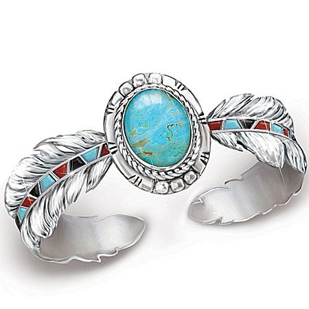 Photo of Turquoise Women's Bracelet: Sedona Sky by The Bradford Exchange Online