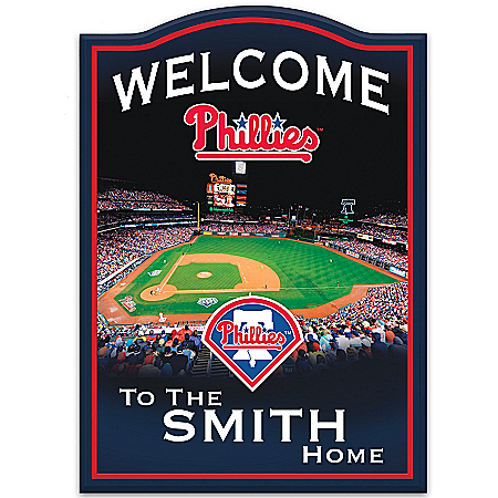 Photo of MLB Philadelphia Phillies Personalized Welcome Sign by The Bradford Exchange Online