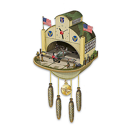 Photo of Cuckoo Clock: P-40 Flying Tiger Cuckoo Clock by The Bradford Exchange Online