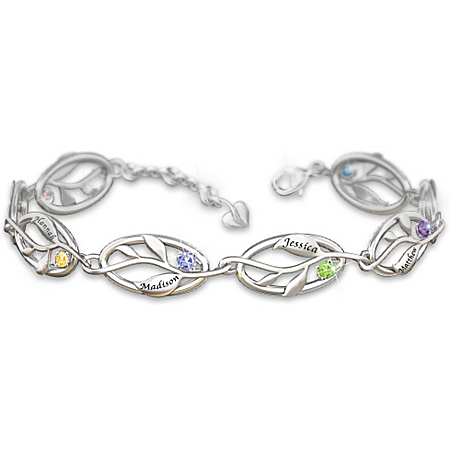 Photo of Women's Bracelet: Family Of Love Personalized Bracelet by The Bradford Exchange Online