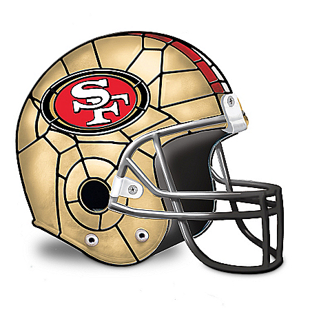 Photo of NFL San Francisco 49ers Helmet Accent Lamp by The Bradford Exchange Online