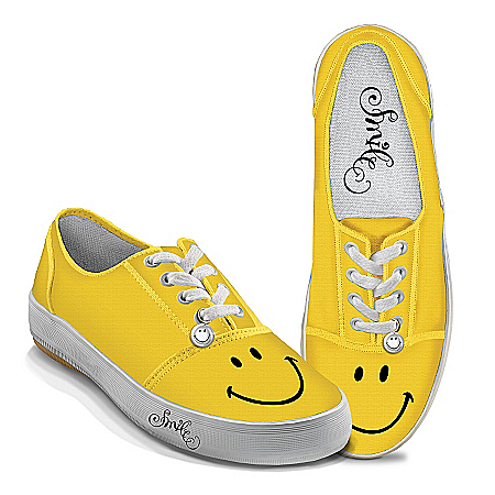 Photo of Yellow Smile Women's Shoes by The Bradford Exchange Online