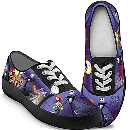 Photo of Tim Burton's The Nightmare Before Christmas Canvas Art Women's Shoes by The Bradford Exchange Online