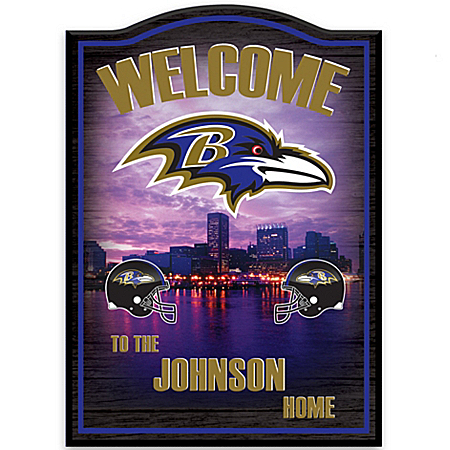 Photo of Personalized Wall Decor: Baltimore Ravens by The Bradford Exchange Online