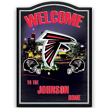 Photo of Atlanta Falcons Personalized Welcome Sign by The Bradford Exchange Online