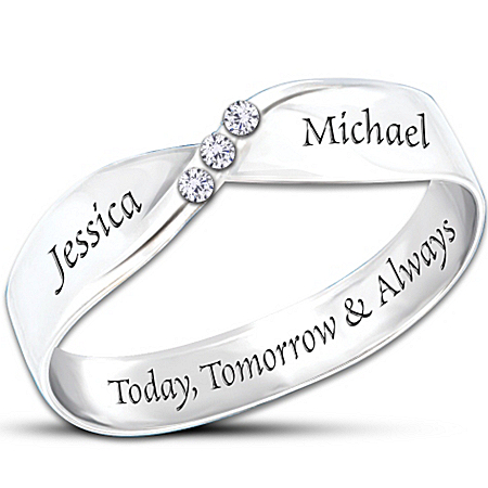 Photo of Personalized Diamond Ring: Infinite Love by The Bradford Exchange Online