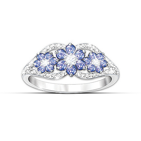 Photo of Women's Ring: African Violets Tanzanite And Diamond Ring by The Bradford Exchange Online