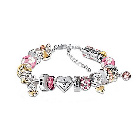 Photo of Heartfelt Wishes For My Granddaughter Bracelet by The Bradford Exchange Online