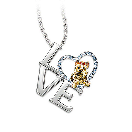 Photo of Pendant Necklace: Love Is A Yorkie by The Bradford Exchange Online