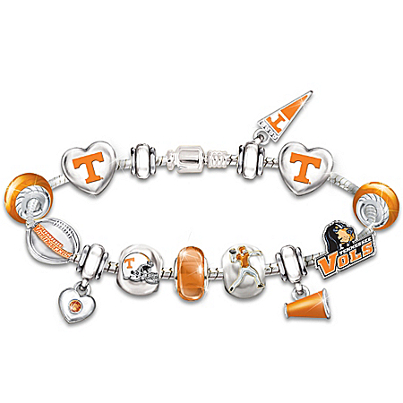 Photo of Tennessee Volunteers #1 Fan Charm Bracelet: Go Vols! by The Bradford Exchange Online