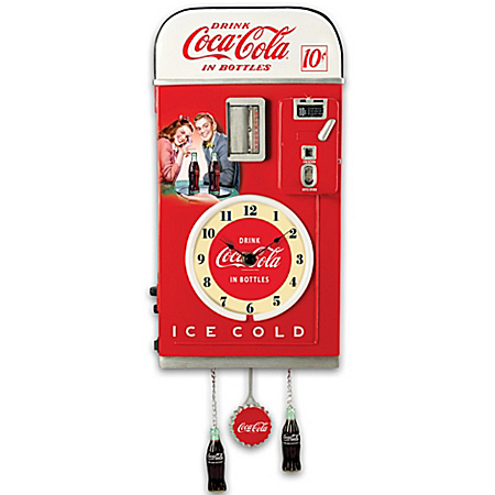 Photo of Wall Decor: COCA-COLA Time For Refreshment Vending Machine Wall Clock by The Bradford Exchange Online