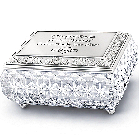 Photo of Daughter Personalized Music Box: My Daughter, I Love You Always by The Bradford Exchange Online