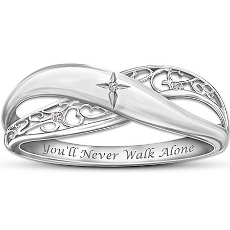 Photo of Religious Diamond Ring: Pure Faith by The Bradford Exchange Online