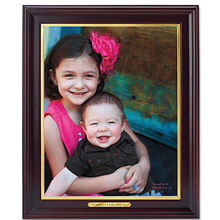 Photo of Cherished Memories Personalized Canvas Portrait Wall Decor by The Bradford Exchange Online
