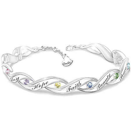 Photo of Wishes For My Granddaughter Personalized Bracelet by The Bradford Exchange Online