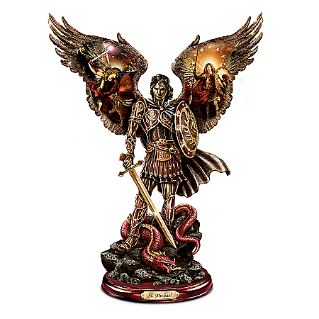Photo of Michael: Triumphant Warrior Bronze Sculpture by The Bradford Exchange Online