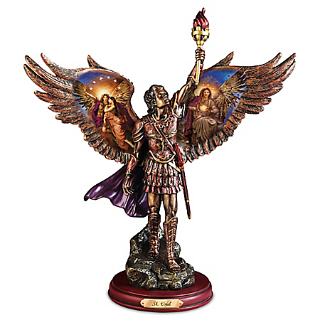 Photo of Uriel: Protector Of Truth Handcrafted Bronze Sculpture by The Bradford Exchange Online