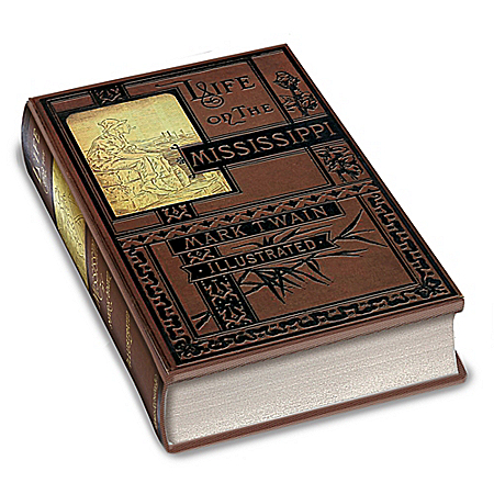 Photo of Mark Twain First Edition Replica: Life On The Mississippi Book by The Bradford Exchange Online