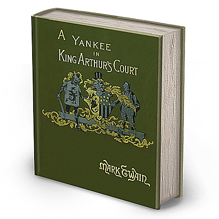 Photo of Mark Twain First Edition Replica: A Connecticut Yankee In King Arthur's Court Book by The Bradford Exchange Online