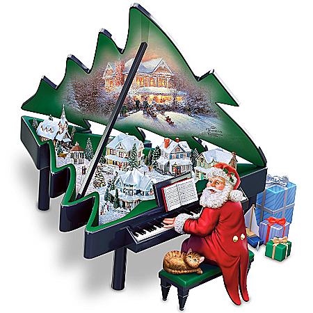 Photo of Thomas Kinkade Santa's Grand Christmas Musical Sculpture by The Bradford Exchange Online