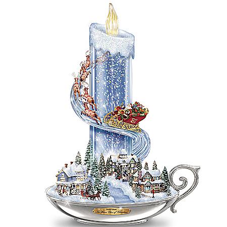 Photo of Table Centerpiece: Thomas Kinkade Warm Glow Of Christmas Table Centerpiece by The Bradford Exchange Online