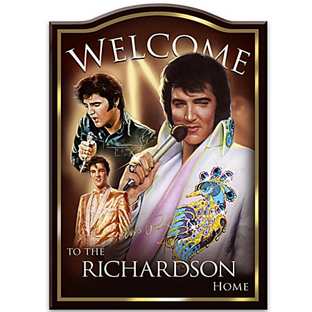 Photo of Personalized Welcome Sign: Elvis Presley by The Bradford Exchange Online