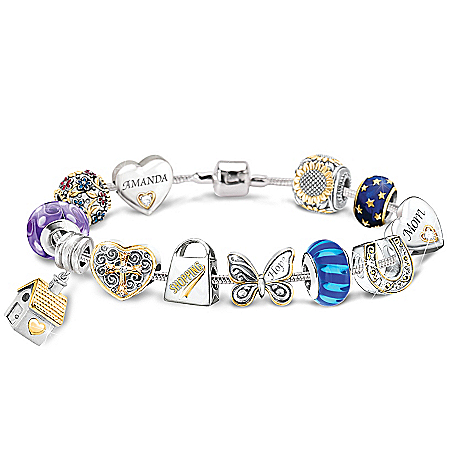 Photo of Bracelet: Charming Touches Collectible Personalized Charm Favorite Things Bracelet by The Bradford Exchange Online