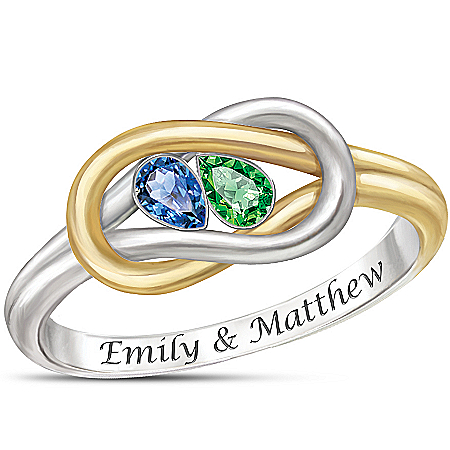 Photo of Women's Ring: Lover's Knot Personalized Ring by The Bradford Exchange Online