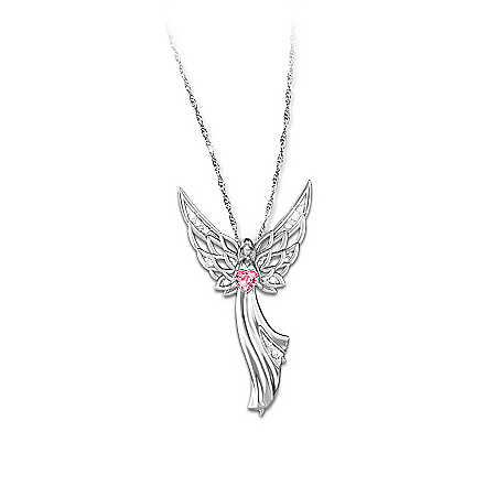 Photo of Women's Necklace: Angel Of Hope Pendant Necklace by The Bradford Exchange Online