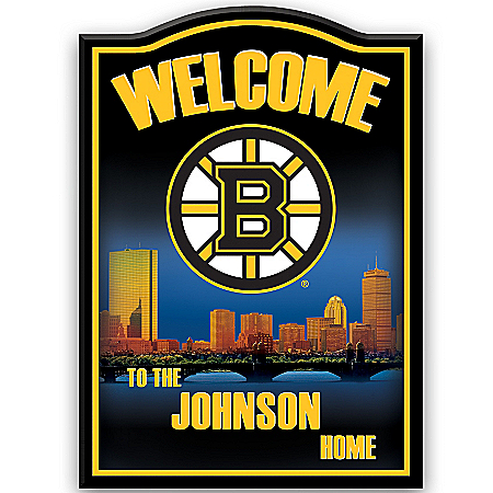 Photo of NHL® Boston Bruins® Personalized Welcome Sign by The Bradford Exchange Online