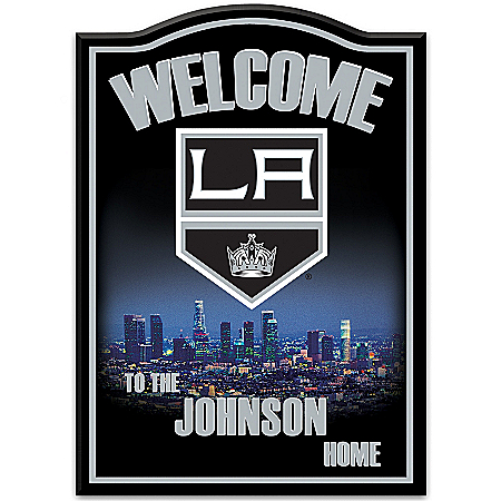 Photo of NHL® Los Angeles Kings® Personalized Welcome Sign by The Bradford Exchange Online
