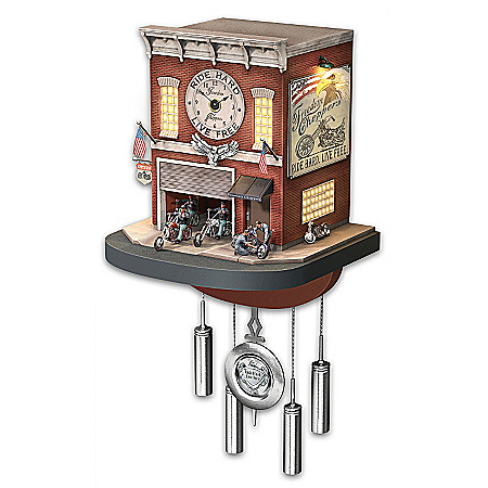 Photo of Cuckoo Clock: Freedom Choppers Motorcycle Garage Cuckoo Clock by The Bradford Exchange Online