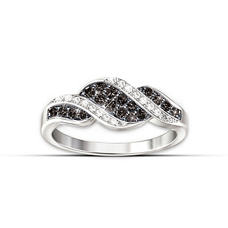 Photo of Women's Ring: Midnight Serenade Diamond Ring by The Bradford Exchange Online