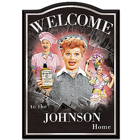 Photo of I LOVE LUCY Personalized Welcome Sign by The Bradford Exchange Online