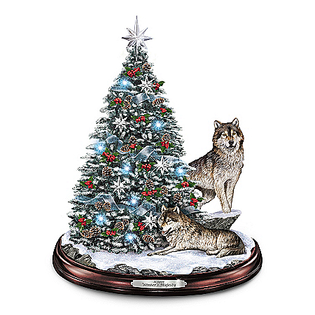 Photo of Tabletop Christmas Tree: Winter's Majesty Tabletop Christmas Tree by The Bradford Exchange Online