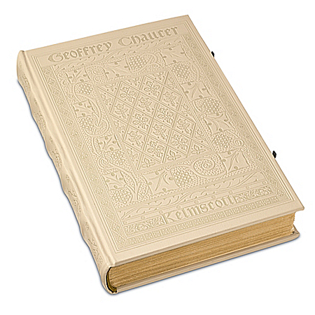 Photo of The Kelmscott Chaucer White Hardcover Book by The Bradford Exchange Online