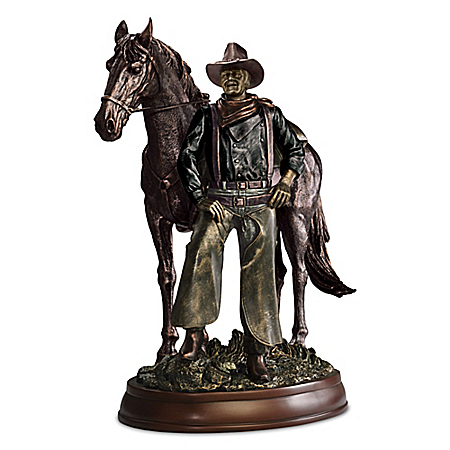 Photo of John Wayne: Western Great Cold-Cast Bronze Masterpiece Sculpture by The Bradford Exchange Online