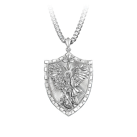 Photo of Men's Necklaces And Pendants: Triumph Of St. Michael Pendant Necklace by The Bradford Exchange Online