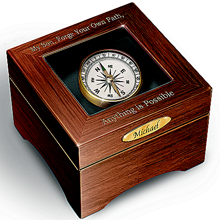Photo of Keepsake Box: Son, Forge Your Path Personalized Keepsake Box by The Bradford Exchange Online