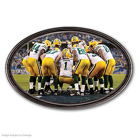 Photo of Wall Decor: Going The Distance Green Bay Packers Personalized Wall Decor by The Bradford Exchange Online