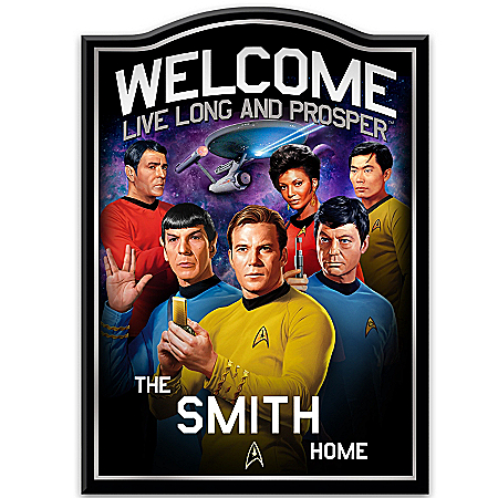 Photo of STAR TREK Personalized Welcome Sign by The Bradford Exchange Online